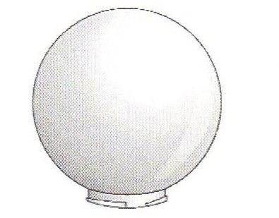 14 Inch White Acrylic Lamp Post Globe With 5 7 Inch Twist