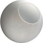 18 Inch White Acrylic  Lamp Post Globes with 5.25 Inch Opening