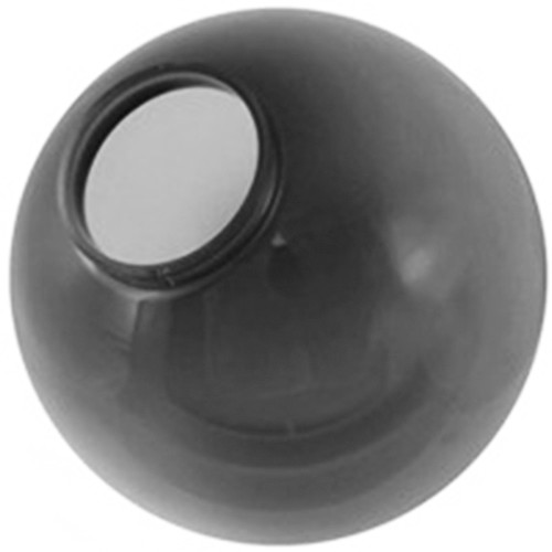 20 Inch Smoke Acrylic Lamp Post Globe with 5.91 Inch Flange