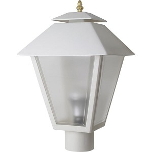 Post fixture with white housing and frosted lens 85461 decorative post fixture with white housing and frosted lens 85461 aloadofball Image collections