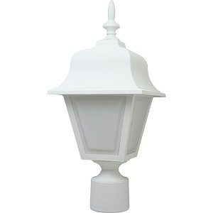Decorative Post Fixture with White Housing and White Lens - 86011