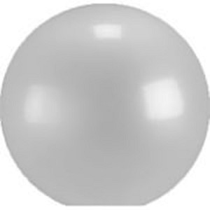 18 Inch Frosted Acrylic  Lamp Post Globes with 5.25 Inch Neckless Minimum Opening