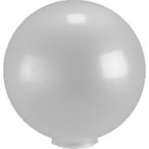 14 Inch Frosted Acrylic Lamp Post Globe with 5.91 Inch Flange