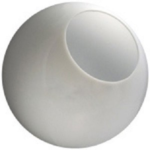 22 Inch White Polycarbonate Lamp Post Globe with a 8 5/8 Inch Neckless Opening
