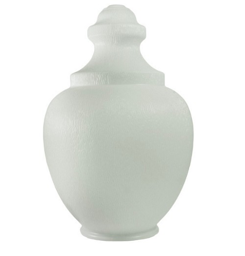 24.5 Inch White Polyethylene Macho Acorn with 7.75 Inch Solid Flange
