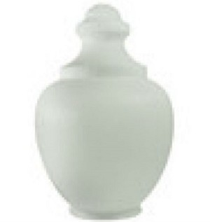 22 Inch White Polyethylene Macho Acorn with a 7.75 Inch Solid Flange