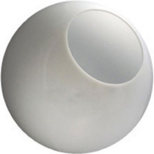 16 Inch Neckless White Acrylic Lamp Post Globe with 5.25 Inch Opening